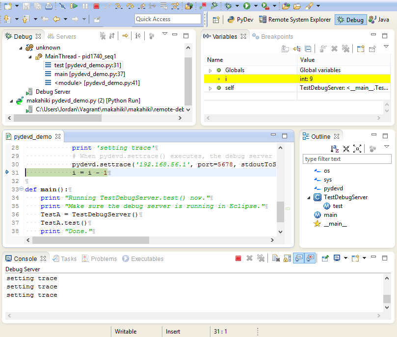 2 1 1 1 1 3  Using Eclipse to Develop With Makahiki on Vagrant